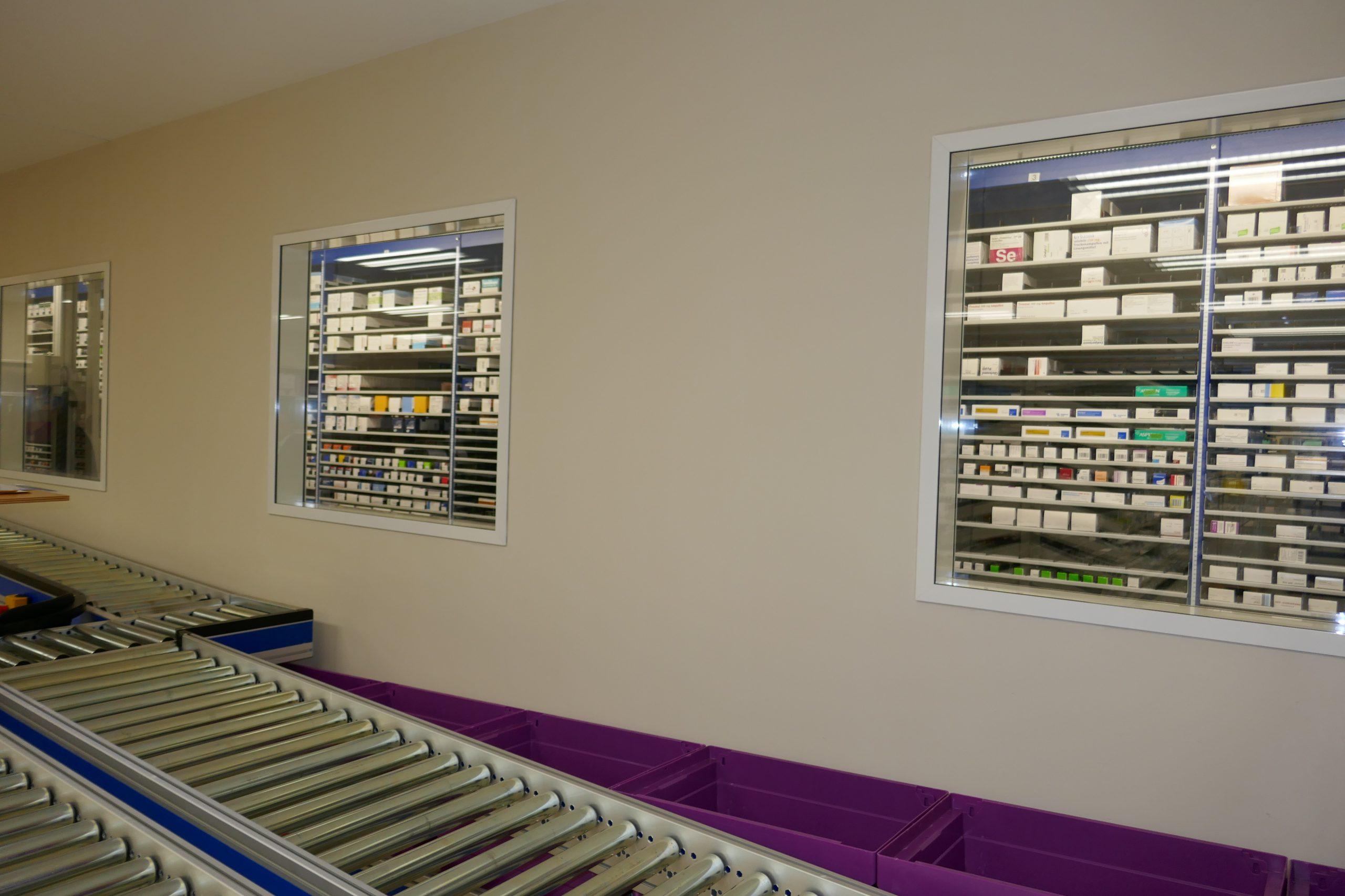 Kommissionierautomat für Arzneimittel im Versorgungszentrum am LKH Graz